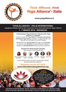 Yoga Alliance (Italia/International) -Media partner International Yoga Festival 2018/2019